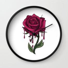 Bleeding Rose Wall Clock
