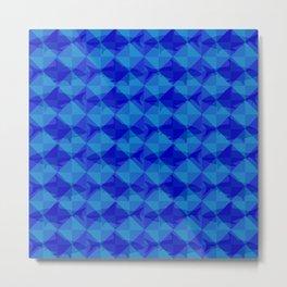 Blue Shark Square. Metal Print