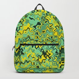 Marble green yellow gaphic design Backpack