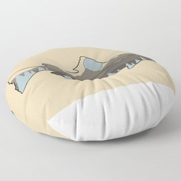Fly Fishing Blue Mountain Trout Floor Pillow