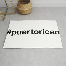 PUERTO RICAN Hashtag Rug