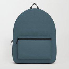Plain Solid Color Blue Grey Backpack
