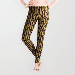 Dip Pen Nibs (Navy and Yellow Ochre) Leggings