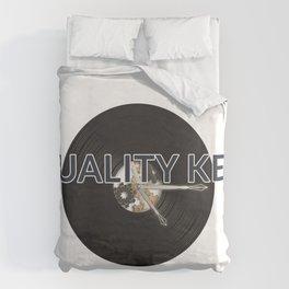 Quality Key: Vinyl Time Duvet Cover