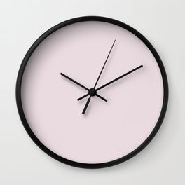 WINE PAIRING powder pastel solid color Wall Clock