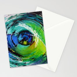 L'œil sur le futur, acrylique / Eye on the futur, Acrylic artwork Stationery Cards