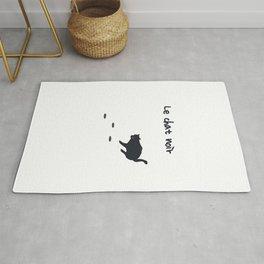 Le chat noit - The black cat Rug