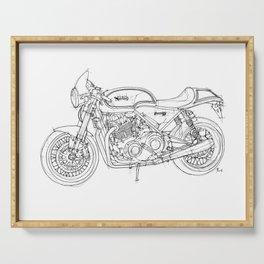 NORTON COMMANDO 961 CAFE RACER 2011, original artwork Serving Tray