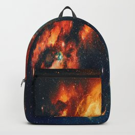 Wonderful Abstract Galaxy Space Pillar Of Fire Backpack