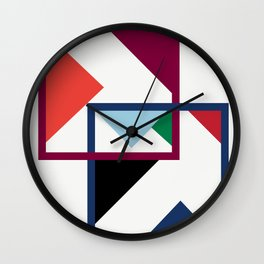Luxe coloured shapes in an abstract pattern Wall Clock