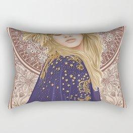 Stevie Nicks Poster Mucha Art Nouveau Rectangular Pillow