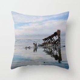 Fort Stevens State Park, Oregon // Peter Iredale Shipwreck Throw Pillow