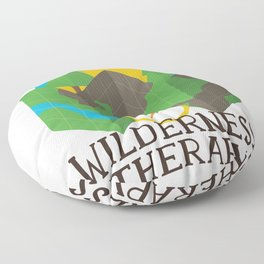 Wilderness Therapy Map Floor Pillow