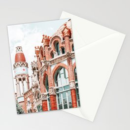 Hospital Sant Pau Barcelona, Urban Art Print, Barcelona City Modernism Architecture Print, Architect Lluis Domenech Montaner Stationery Cards