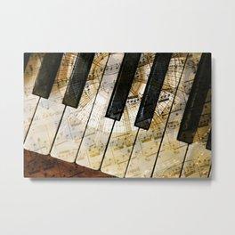 Piano Keys Music Collage abstract Metal Print