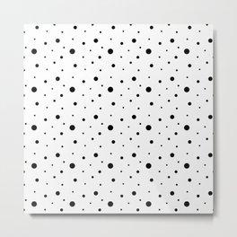 Black polka dots on white. Metal Print