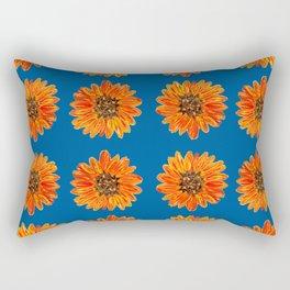 Autumn Flower Pattern Rectangular Pillow