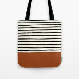 Burnt Orange x Stripes Tote Bag