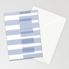 Big Stripes in Light Blue Stationery Cards
