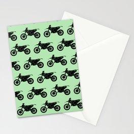 Dirt Bikes // Light Green Stationery Cards