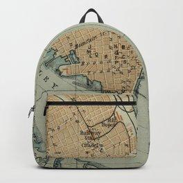 Vintage Map of Charleston SC Harbor (1904) Backpack
