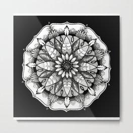 FlowerMandala Metal Print