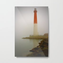 Barnegat Lighthouse on a Foggy Day Metal Print