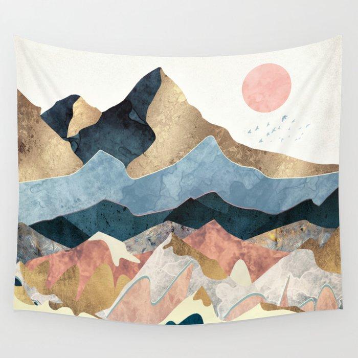 Golden Peaks Wandbehang