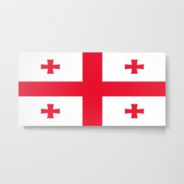 Flag of georgia-Georgia,Sakartvelo, Causasus,georgeian,საქართველო ,Tbilisi,causasus,Georgian,ქართული Metal Print