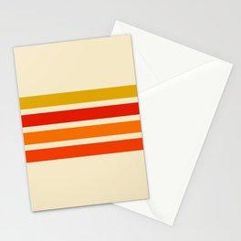 Abstract Minimal Retro Stripes 70s Style - Nagatane Stationery Cards