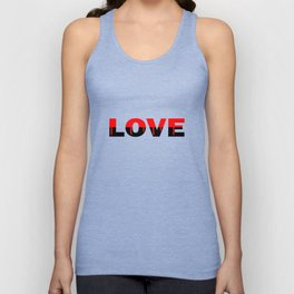 Love Relationship Red Color Of Love Unisex Tank Top