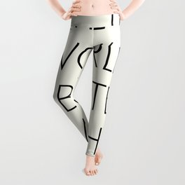 The world is better with You, positive thinking, strong woman, bedroom wall art, minimalist typography, Leggings