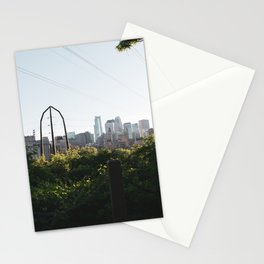 Minneapolis Minnesota Skyline Sunset Stationery Cards