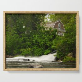 Brandywine River and First Presbyterian Church Rural Landscape Photo Serving Tray