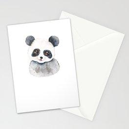 cute baby panda watercolor  Stationery Cards
