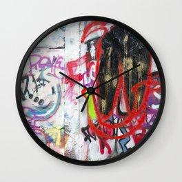 Colorful Graffiti Wall Clock