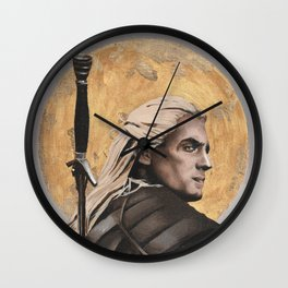 Witcher - Geralt of Rivia - oil painting print Wall Clock