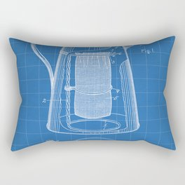 Coffee Percolator Patent - Coffee Shop Art - Blueprint Rectangular Pillow
