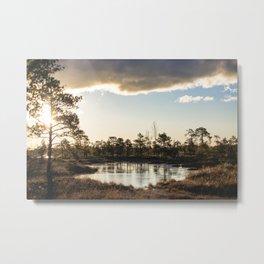 Kemeru National Park | Lake | Colorful Nature Shots | Colourful | Latvia | Swamp | Sunrise | Sunup | Natural | European Nature Metal Print