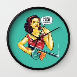 Making Up is Hard Too Wall Clock