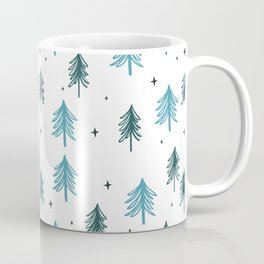 Minimal Christmas Tree Pattern Coffee Mug