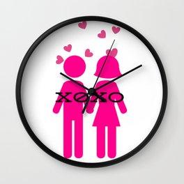 Pair XOXO Wall Clock