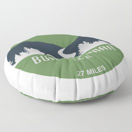 Burke-Gilman Trail Floor Pillow