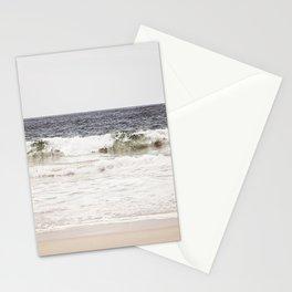 Neutral Ocean Landscape Photography, Grey Seascape Art, Gray Sea Beach Photo, Coastal Print Stationery Cards