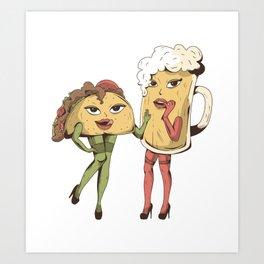 sexy taco beer  Art Print