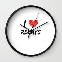 I Love Relays Wall Clock