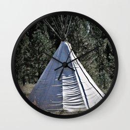 Tipi Dreaming Wall Clock