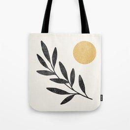 Leaf Sun 1 - Gold Black Tote Bag