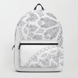 Ultimate Gray Outline Rose Window Backpack