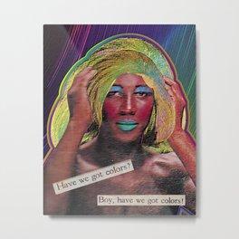 Showtime- LGBTQ Pride Performer Digital Collage Art Print Metal Print